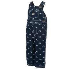 Carhartt Toddler Girls' Horse Print Denim Overall