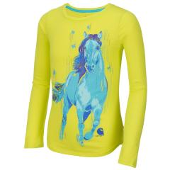 Girls' Peacock Horse Slub Tee