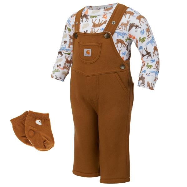 Carhartt Infant Boys' Forest Friends 3 Piece Gift Set
