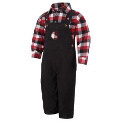 Infant Boys' Lumberjack Overall Set