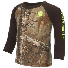 Toddler Boys' Camo Raglan Tee
