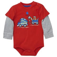 Infant Boys' Construction Wrap Bodyshirt