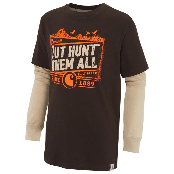 Carhartt Boys' Out Hunt Them All Layered Tee
