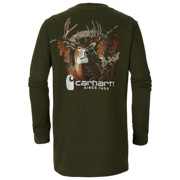 Carhartt Boys' Photoreal Deer Tee