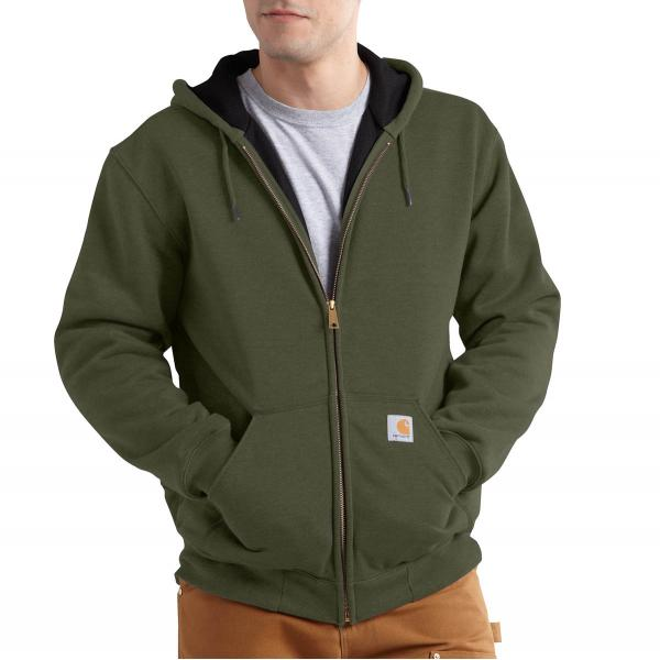 Carhartt Men's Rain Defender Rutland Thermal-Lined Hooded Zip-Front Sweatshirt - Discontinued Pricing