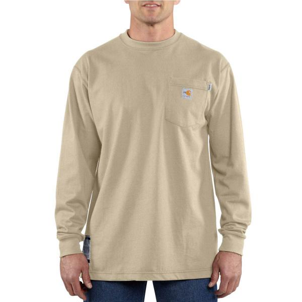 Carhartt Men's Flame-Resistant Force Cotton Long-Sleeve T-Shirt - Discontinued Pricing