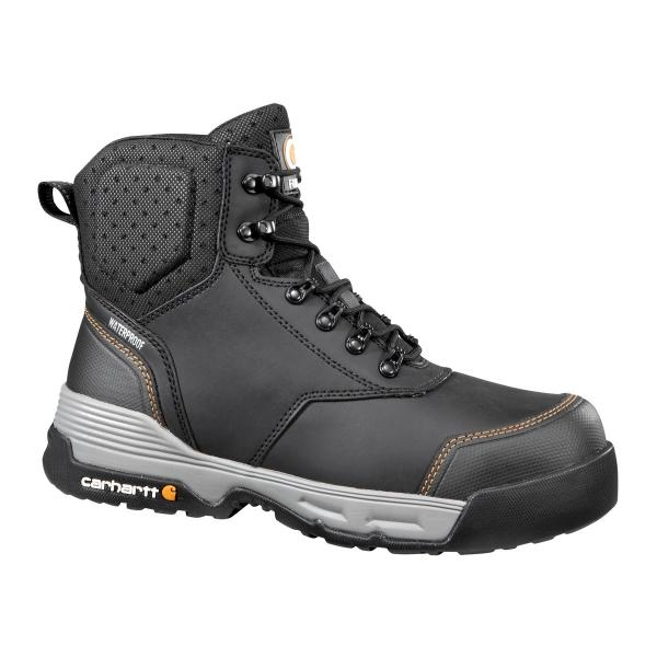 Carhartt Men's 6 Inch Black Waterproof Work Boot - Composite Toe