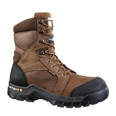 Men's 8 Inch Brown Rugged Flex Waterproof Insulated Work Boot - Non Safety Toe