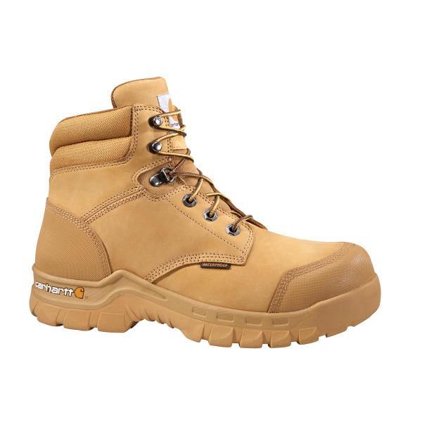 Carhartt Men's 6 Inch Wheat Rugged Flex Waterproof Work Boot - Non Safety Toe