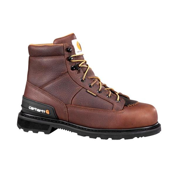 Carhartt Men's 6 Inch Brown Waterproof Work Boot - Non Safety Toe