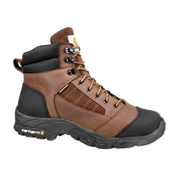 Carhartt Men's Lightweight Brown Waterproof Work Hiker - Non Safety Toe