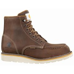 Men's 6 Inch Brown Waterproof Wedge Boot - Non Safety Toe