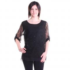 Women's Mesh Layered Top