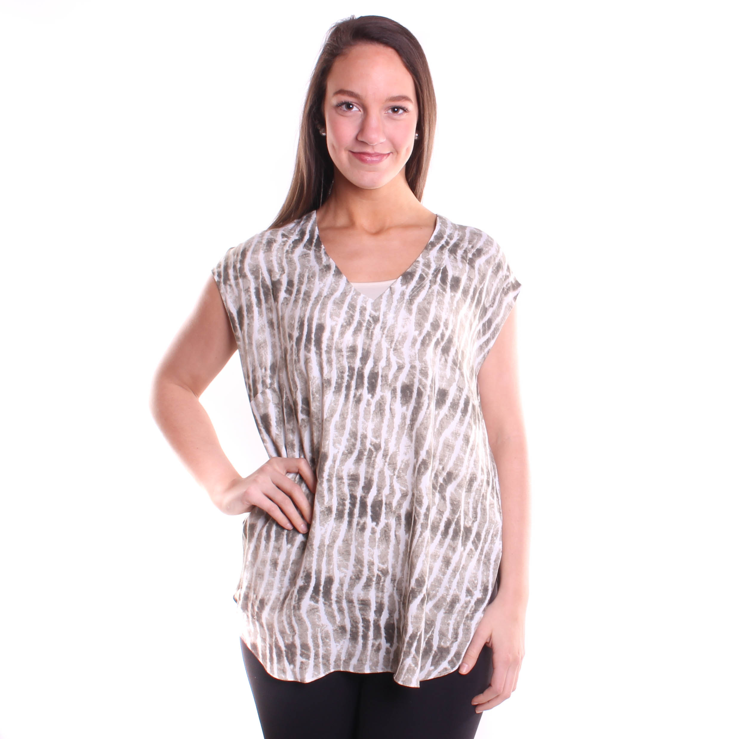 Tribal Women's Cap Sleeve Blouse