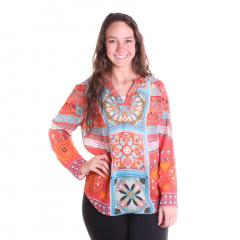 Women's Beaded Neck Blouse