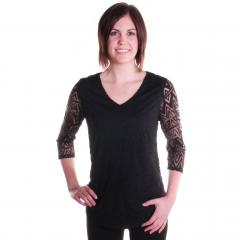 Women's Burnout V-Neck Top