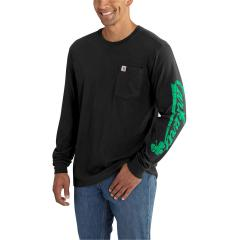 Carhartt Men's Maddock Graphic Carhartt Shamrock Sleeved Logo Long Sleeve T-Shirt