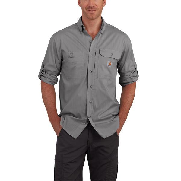 f84fe40125 Carhartt Men s Force Ridgefield Solid Long Sleeve Shirt