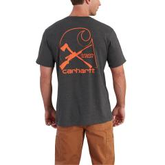 Carhartt Men's Maddock Graphic Rugged Outdoors Branded C Pocket T-Shirt