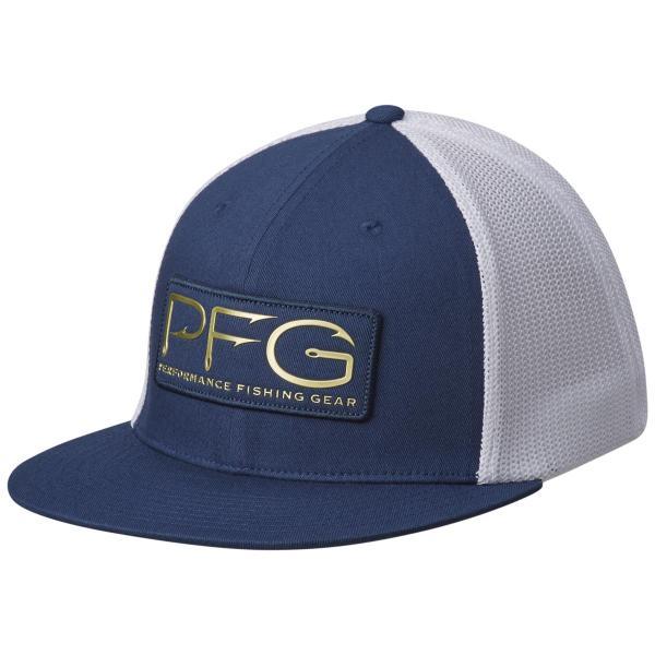 Columbia men 39 s pfg mesh flat brim ballcap for Fishing flat bill hats