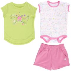 Carhartt Infant Girls' 3 Piece Gift Short Set