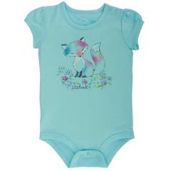 Carhartt Infant Girls' Watercolor Fox Bodyshirt