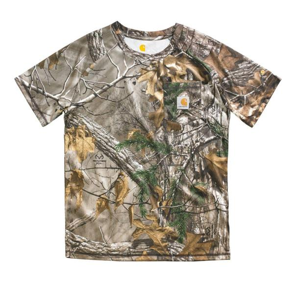 Carhartt Boys' Force Camo Pocket Tee