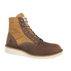 Men's 6 Inch Brown Wedge Boot - Non Safety Toe