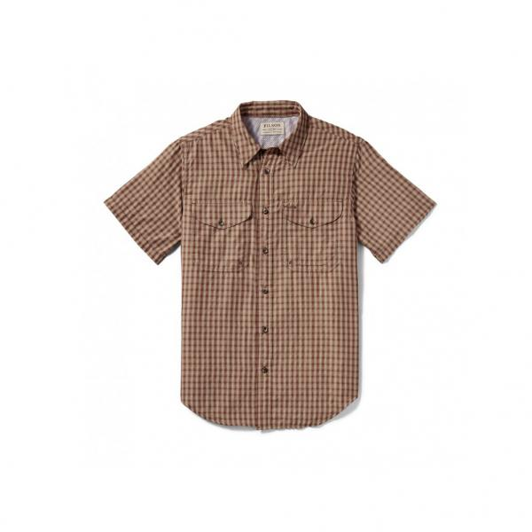 Filson Men's Twin Lakes Short Sleeve Sport Shirt - Brick Tan