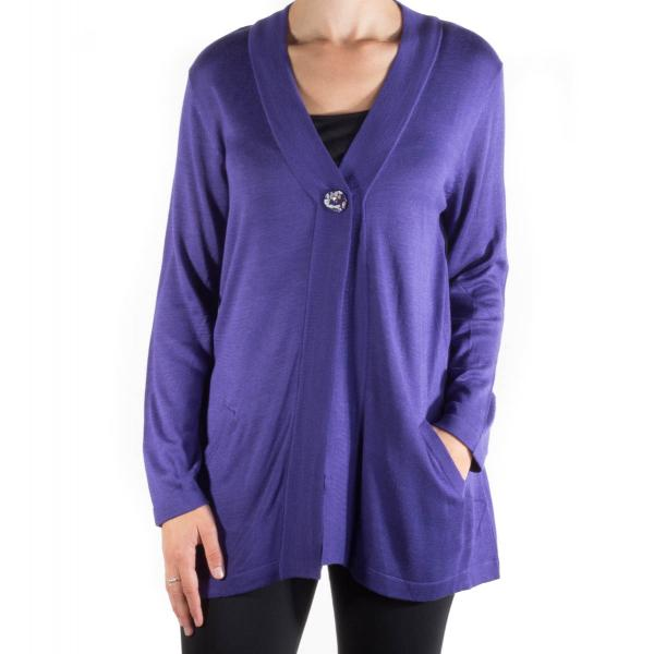 Lulu-B Women's Two Pocket Cardigan