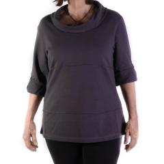Lulu-B Women's Roll Sleeve Sweater