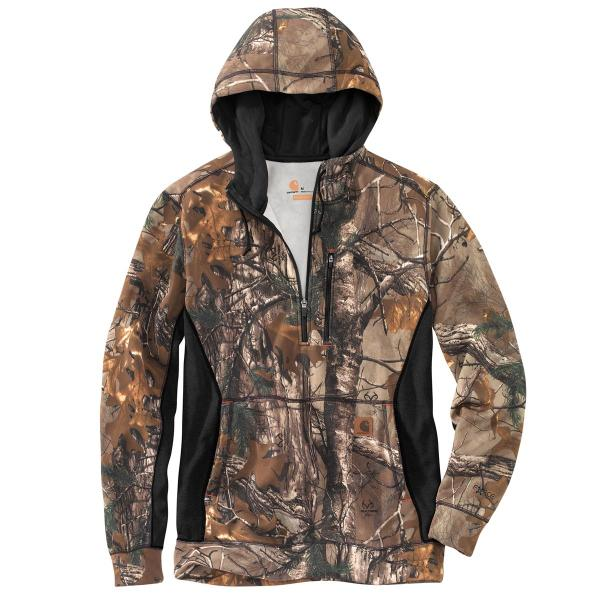 Carhartt Men's Force Extremes Camo Hooded Half Zip Sweatshirt