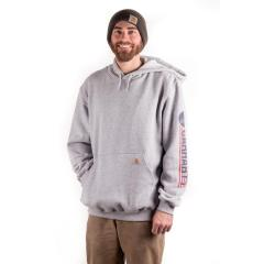 Men's Workwear Graphic Red White Blue Hooded Sweatshirt - Discontinued Pricing