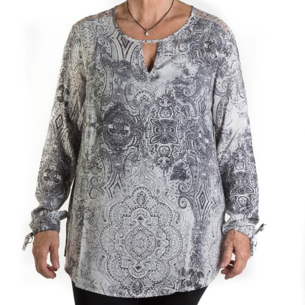 Tribal Women's Laser Cut Blouse