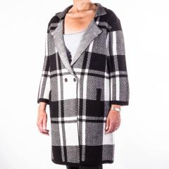 Women's Block Plaid Coatigan