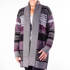 Women's Cozy Stripe Cardigan