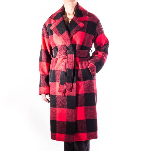 Pendleton Women's Long Plaid Wrap Coat