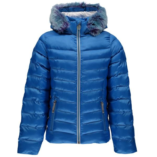 Spyder Girls' Timeless Hoody Faux Fur Down Jacket
