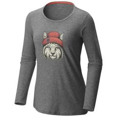 Women's Feline Groovy Long Sleeve Tee - Extended Sizes