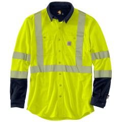 Carhartt Men's FR High Vis Force Hybrid Shirt