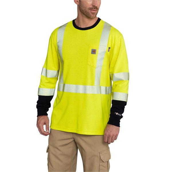 Carhartt Men's FR High Vis Force Long Sleeve T-Shirt