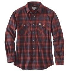 Men's Rugged Flex Hamilton Snap Front Plaid Shirt