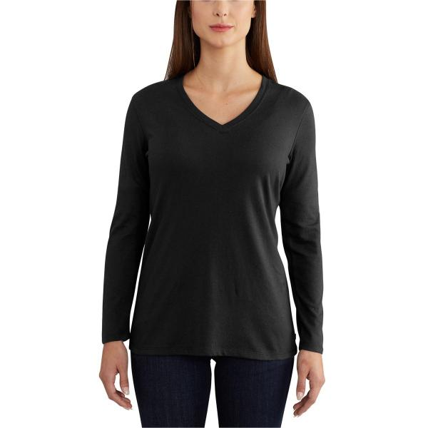 Carhartt Women's Lockhart Long Sleeve V-Neck T-Shirt