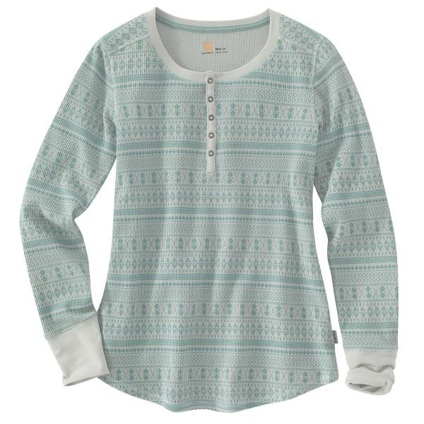 Carhartt Women's Meadow Printed Henley - Discontinued Pricing