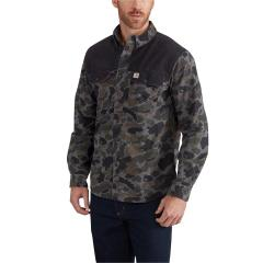Carhartt Men's Rugged Outdoors Burleson Printed Long-Sleeve Shirt