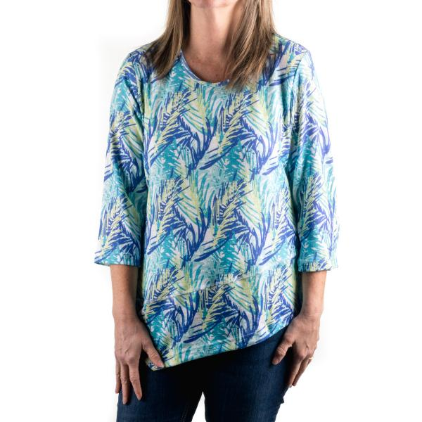 Lulu-B Women's Asym Scoop Neck Top