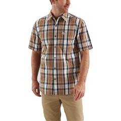 Men's Essential Plaid Open Collar Short Sleeve Shirt