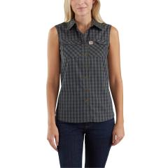 Women's Force Ridgefield Sleeveless Plaid Shirt
