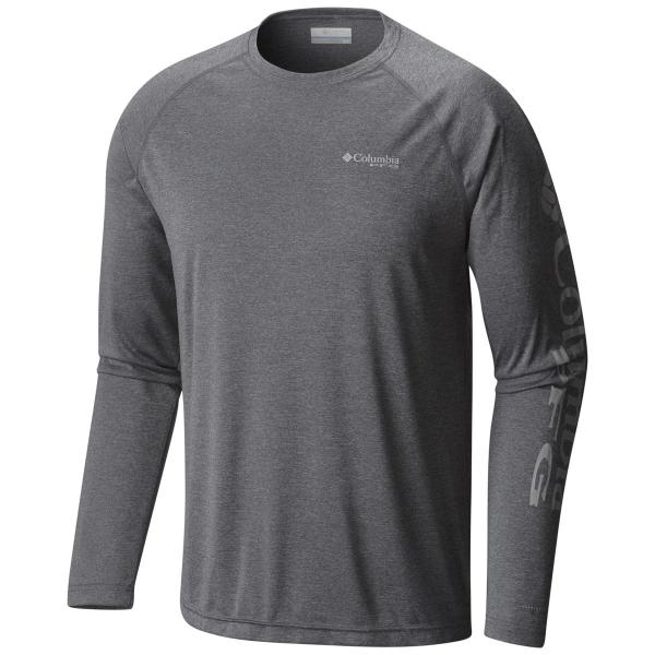 Columbia Men's Terminal Tackle Heather Long Sleeve Shirt - Extended Sizes