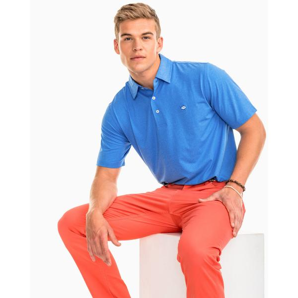 Southern Tide Men's Heathered Driver Performance Polo